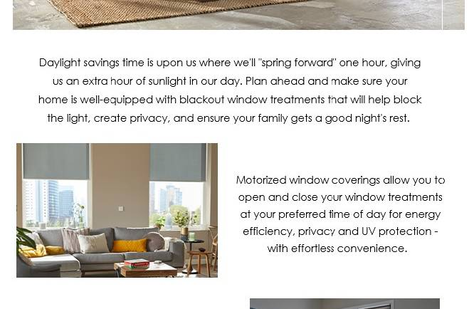 Budget Blinds will help prepare you for Daylight Savings Time
