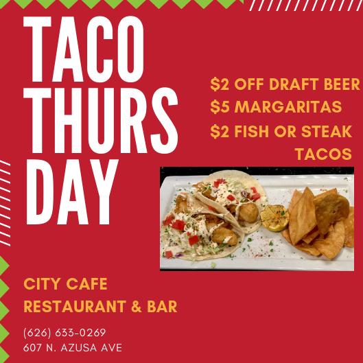 Taco Thursday at City Cafe