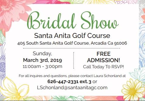 Santa Anita Golf Course Bridal Show