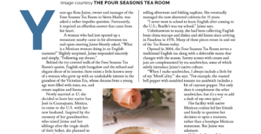 Four Seasons Tea Room featured in Pasadena Magazine