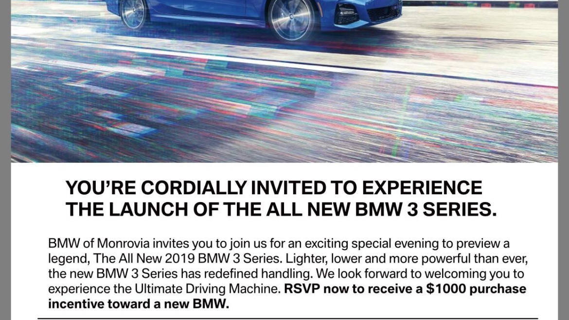 Experience the all new BMW 3 Series