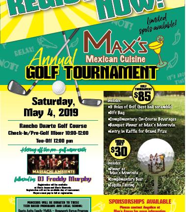 Max's Mexican Cuisine Annual Golf Tournament