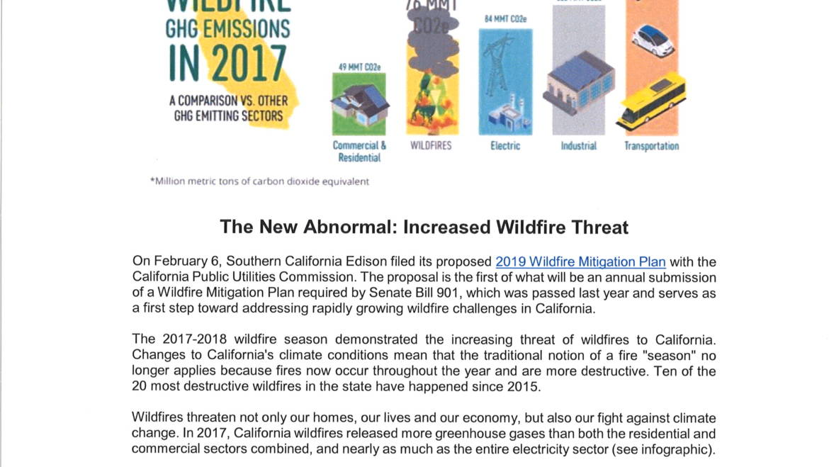 Learn about Increased Wildfire Threat with SoCal Edison