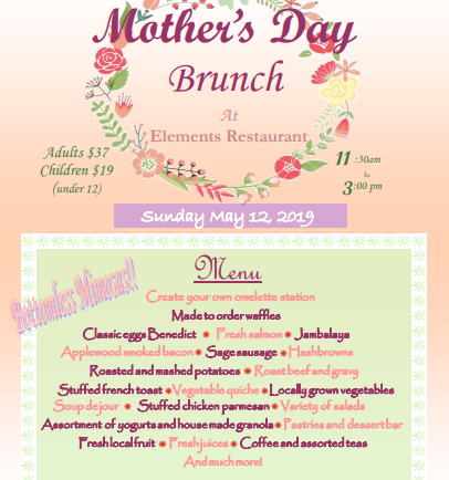 Mother's Day Brunch at DoubleTree's Elements Restaurant