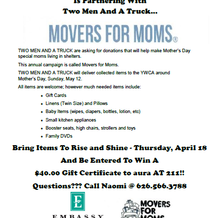 Help Movers for Moms with Embassy Suites
