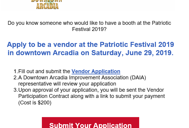 SIgn up for Patriotic Festival 2019