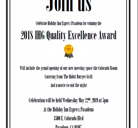 Holiday Inn Express celebrates Quality Excellence Award