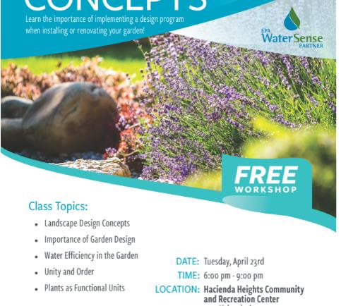 Free Garden Designs Workshop with Upper San Gabriel Valley Water District