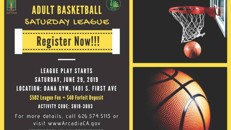 City of Arcadia – Saturday Adult Basketball League