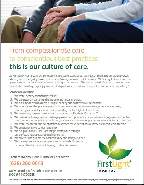 First Light Home Care provides Compassionate Care