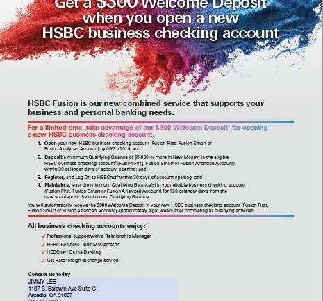 Get a $300 welcome deposit and more from HSBC