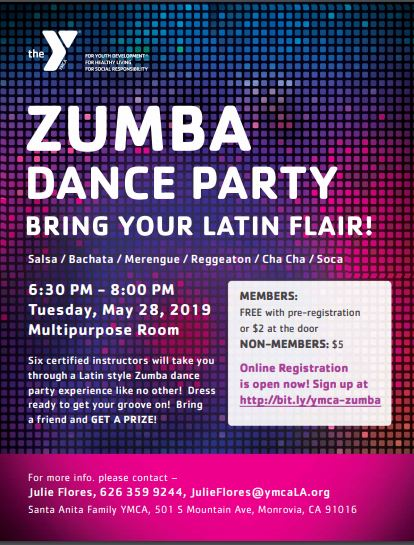 Zumba Dance Party at Santa Anita Family YMCA